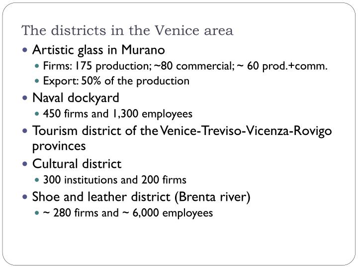 The districts in the Venice area