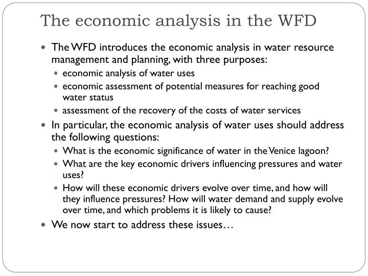 The economic analysis in the WFD