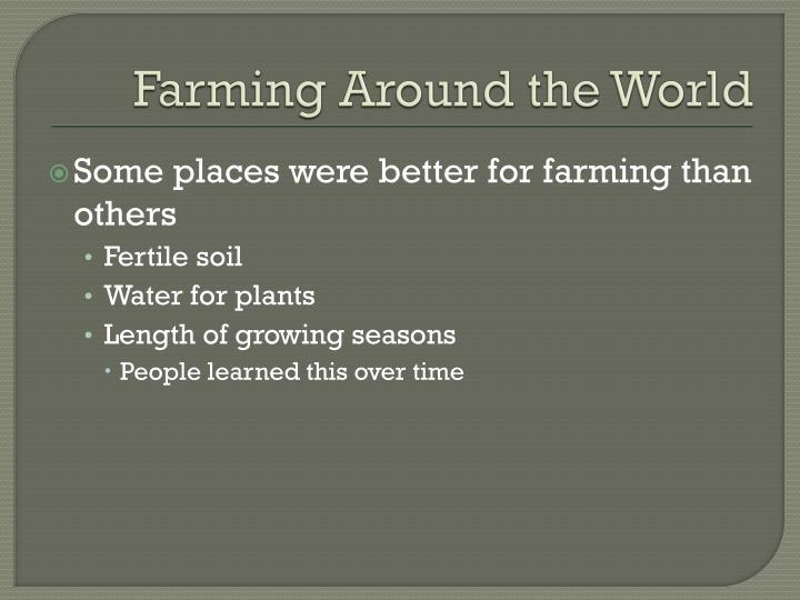 Farming Around the World