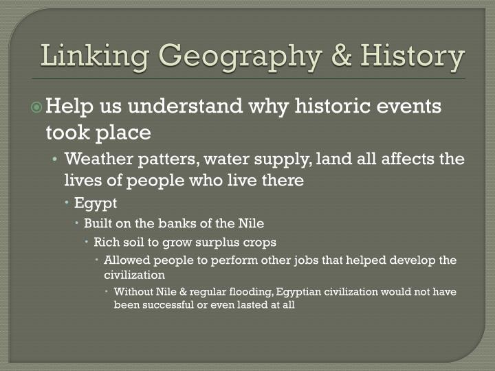 Linking Geography & History