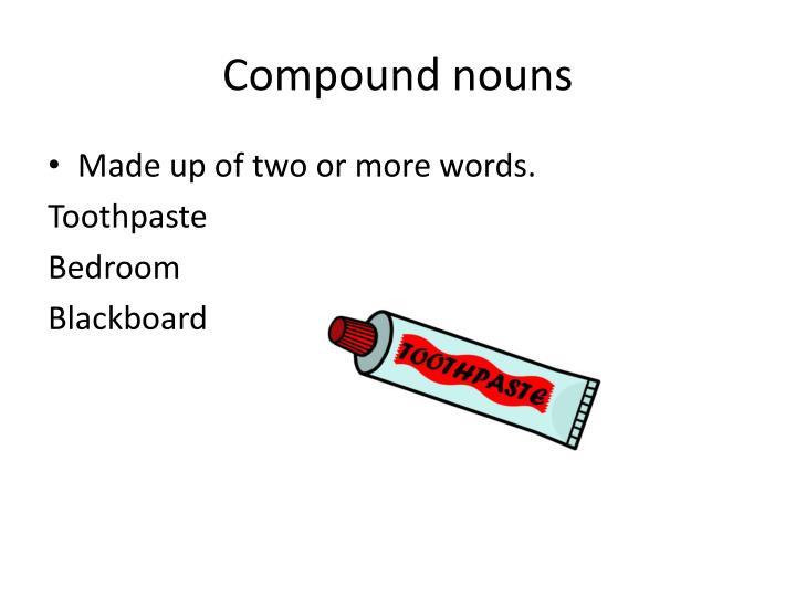 Compound nouns