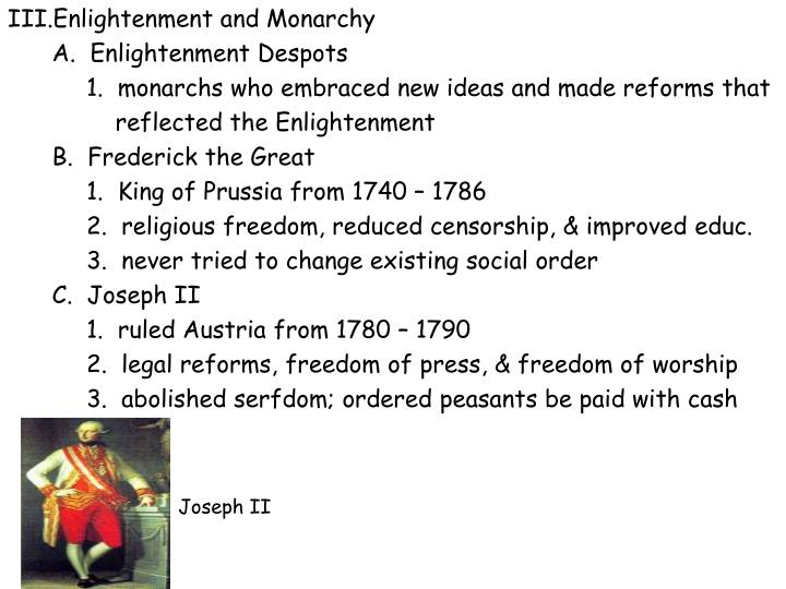 Enlightenment and Monarchy