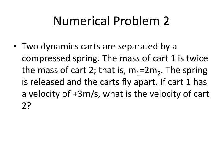 Numerical Problem 2