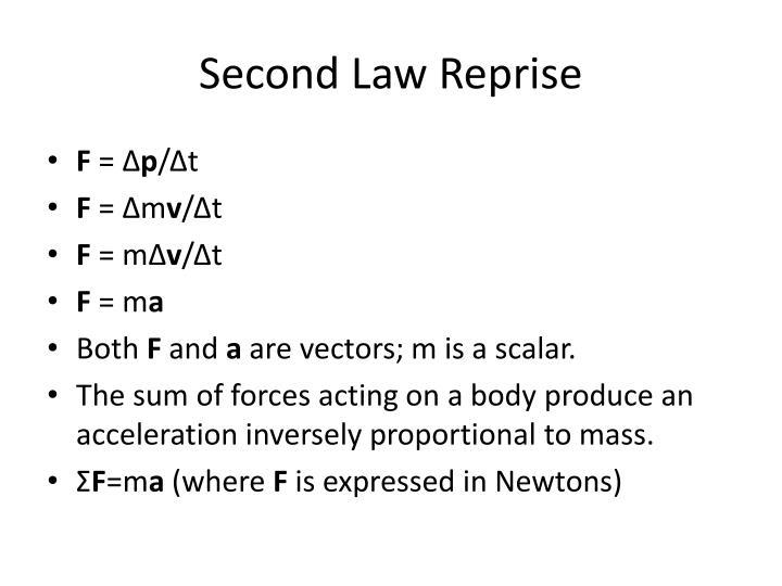 Second Law Reprise