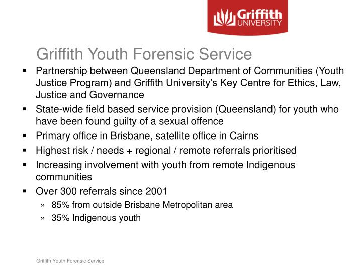 Griffith youth forensic service