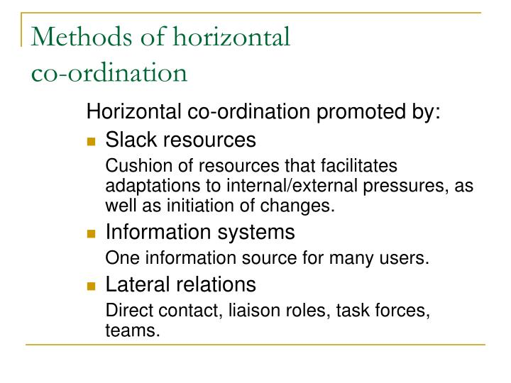 Methods of horizontal