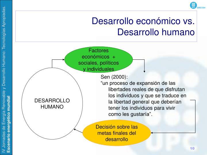 Desarrollo económico vs.