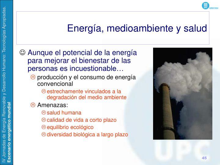 Energía, medioambiente y salud