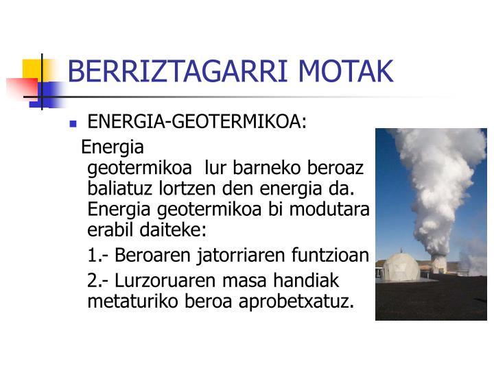 BERRIZTAGARRI MOTAK
