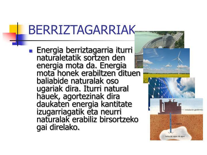 BERRIZTAGARRIAK
