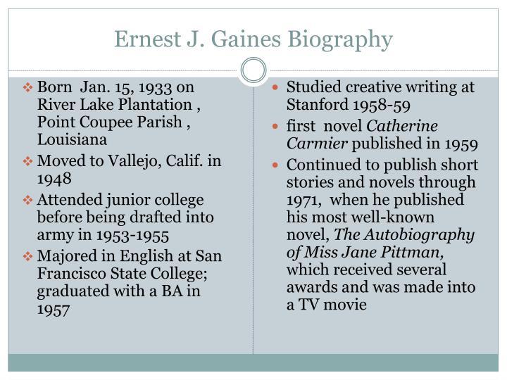 Ernest J. Gaines Biography