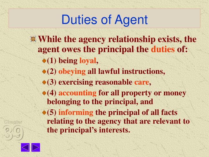Duties of Agent