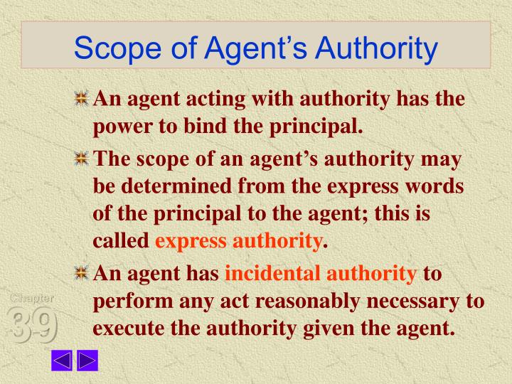 Scope of Agent's Authority