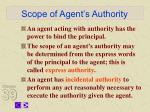 scope of agent s authority