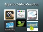 apps for video creation