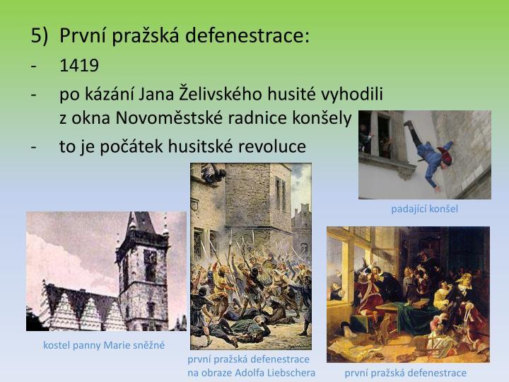 První pražská defenestrace: