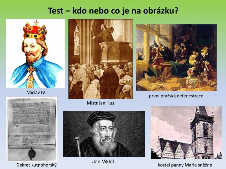 Test – kdo nebo co je na obrázku?