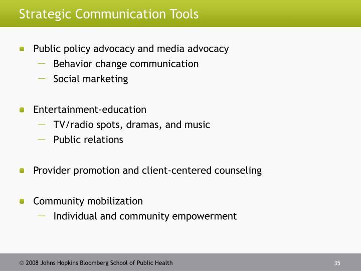 Strategic Communication Tools