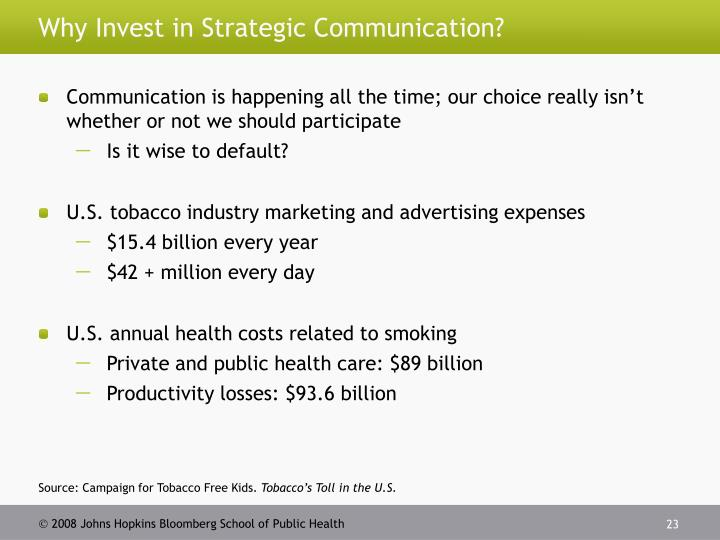 Why Invest in Strategic Communication?