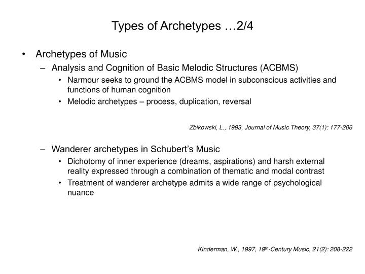 Types of Archetypes …2/4