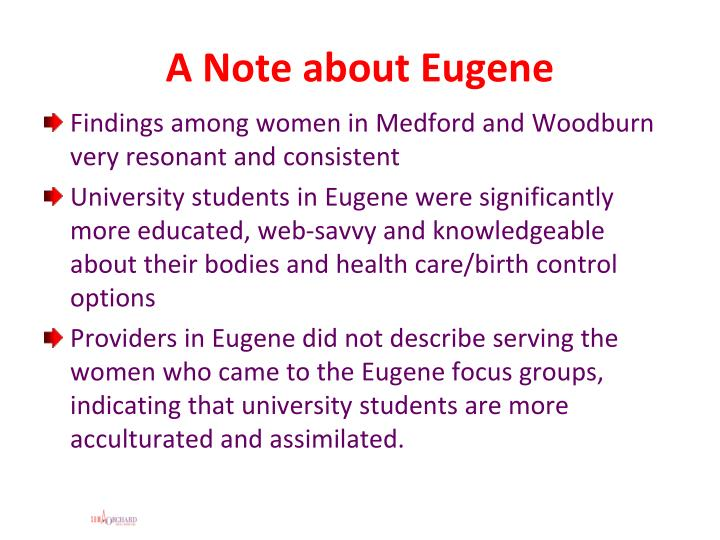 A Note about Eugene