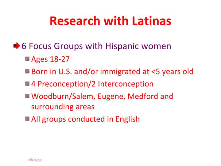 Research with latinas