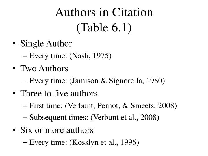 Authors in Citation