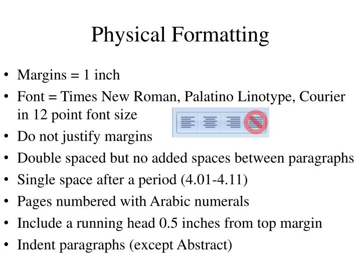 Physical Formatting