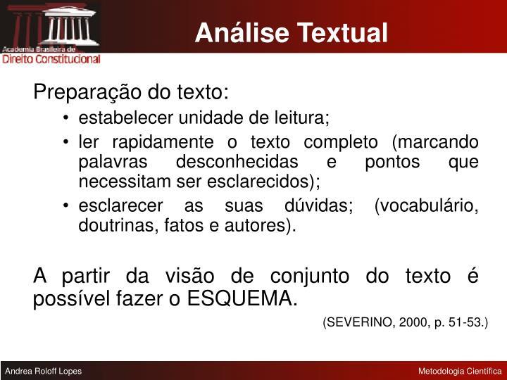 Análise Textual