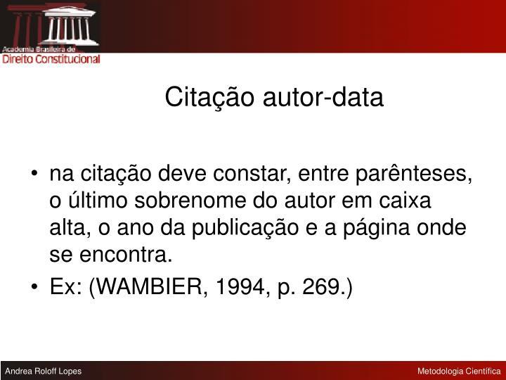 Citação autor-data
