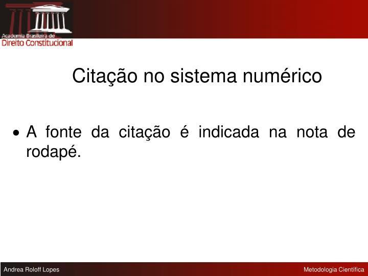 Citação no sistema numérico