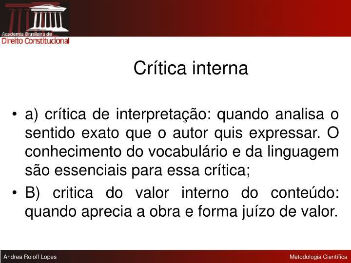 Crítica interna