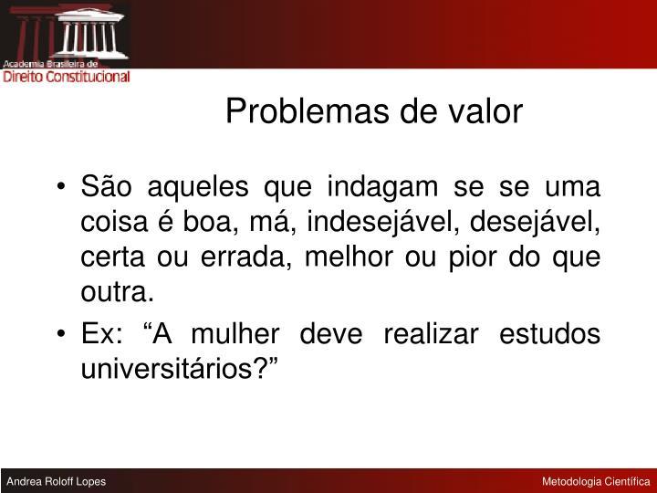 Problemas de valor