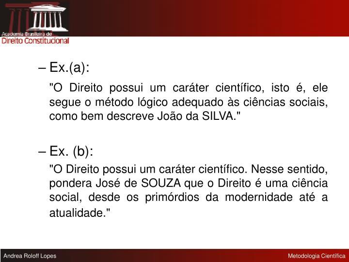 Ex.(a):