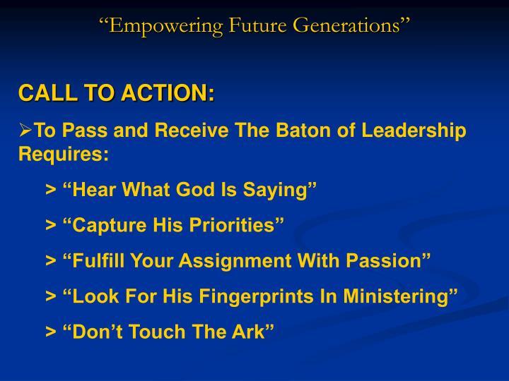 """Empowering Future Generations"""