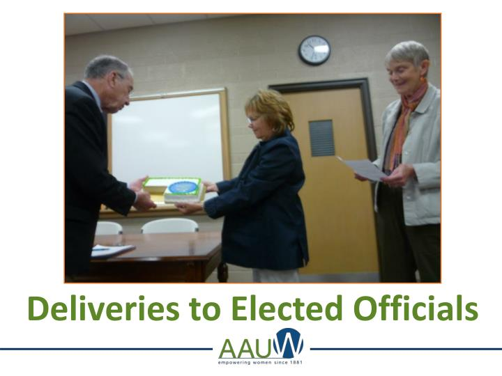 Deliveries to Elected Officials