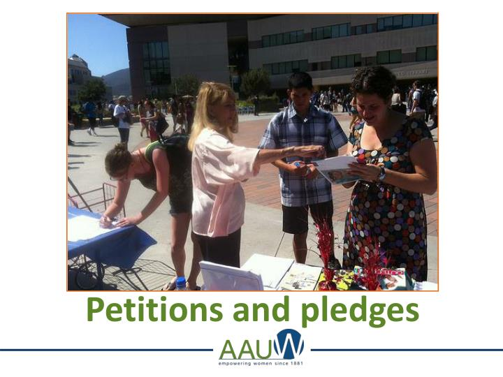 Petitions and pledges