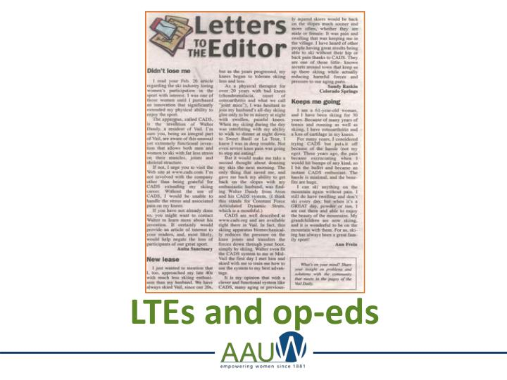LTEs and op-eds