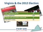 virginia the 2012 election