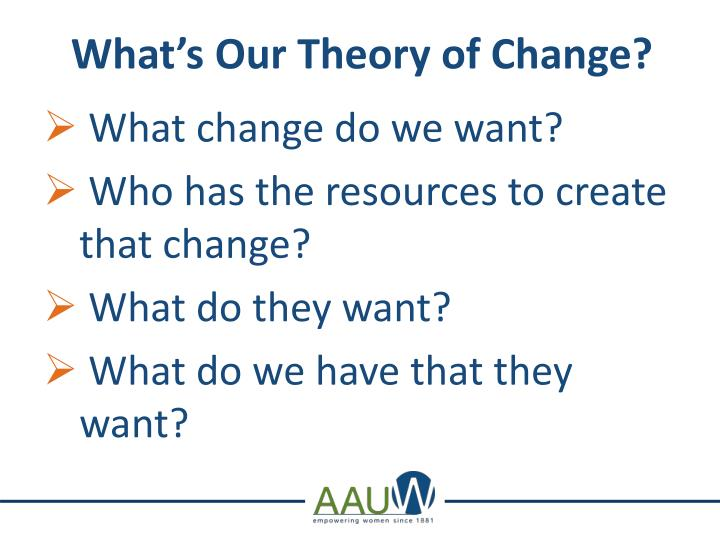 What's Our Theory of Change?