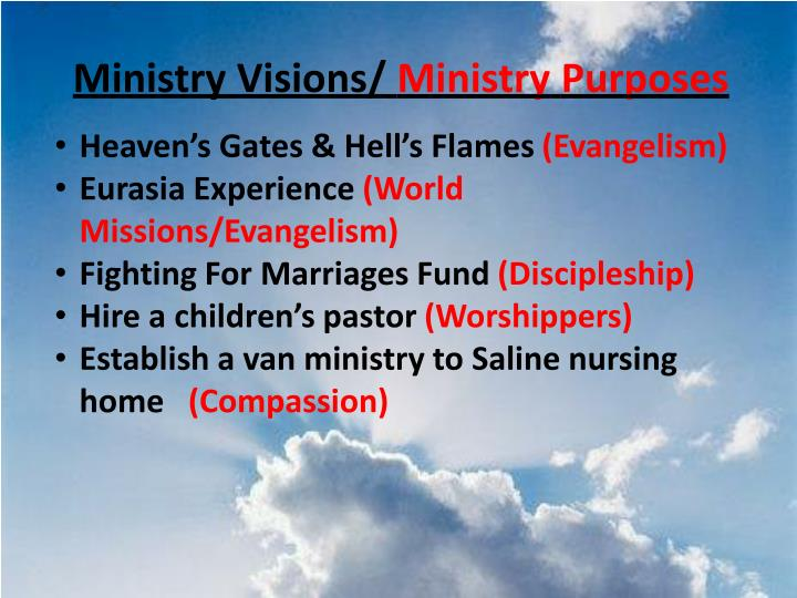 Ministry Visions/