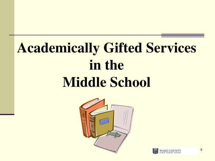 Academically Gifted Services in the