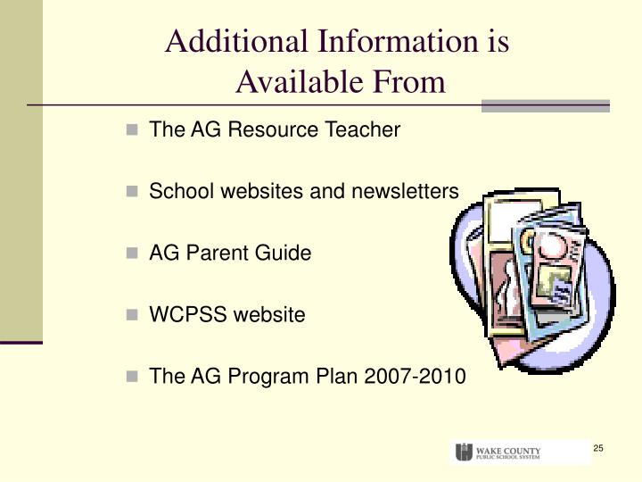 Additional Information is