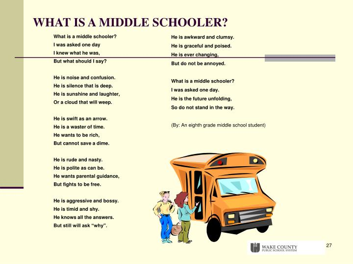 What is a middle schooler?