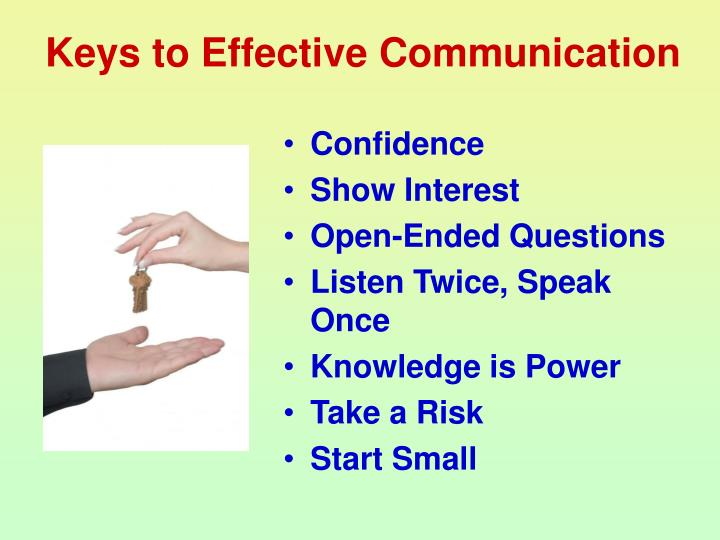 Keys to Effective Communication