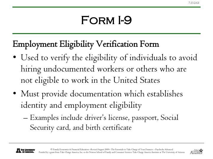 Form I-9