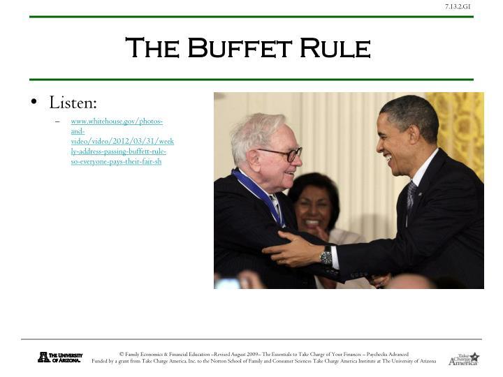 The Buffet Rule