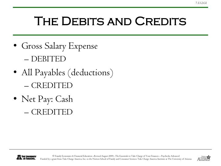 The Debits and Credits