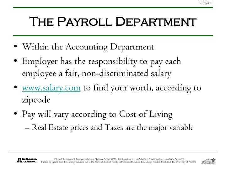 The Payroll Department