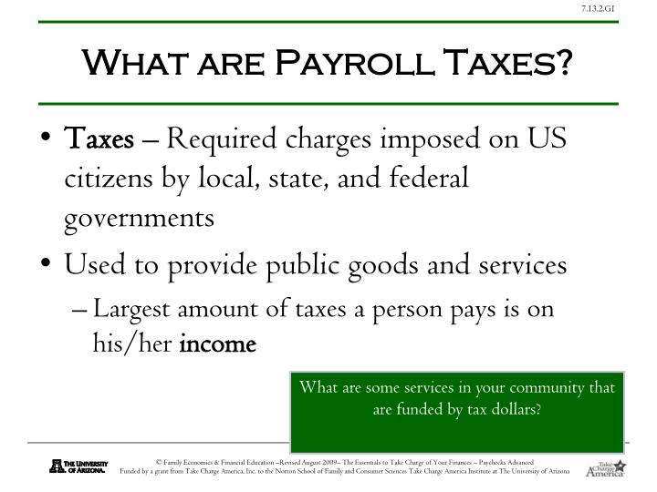 What are Payroll Taxes?